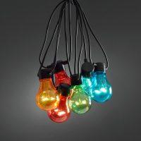 ljusslinga färgade lampor