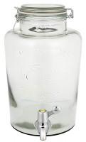 Glasbehållare med tappkran 6L